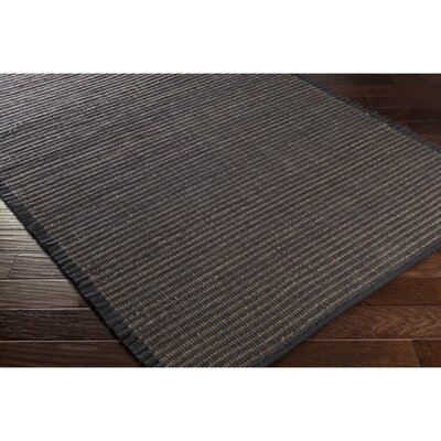 Eastchester Hand-Woven Black/Brown Area Rug Rug Size: Rectangle 8 x 10