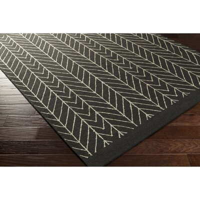Esopus Hand-Woven Neutral/Black Area Rug Rug Size: Rectangle 5 x 76