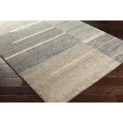 Edmeston Gray/Neutral Area Rug Rug Size: Rectangle 4 x 6