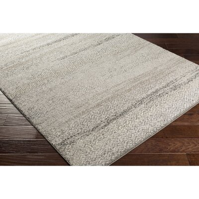 Edmeston Gray/Neutral Abstract Area Rug Rug Size: Rectangle 4 x 6