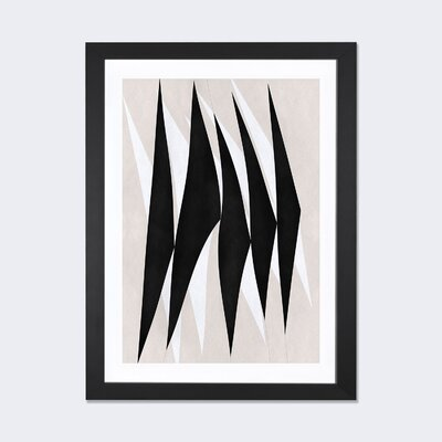 Langley Street Modern Art - Zebra Print Tribal Paint Framed Graphic Art