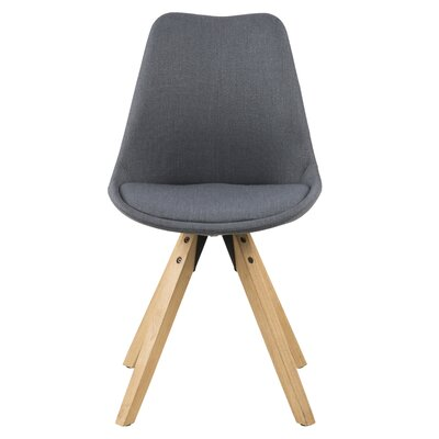 Violeta Upholstered Dining Chair Upholstery: Gray