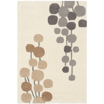 Bermondsey Hand-Tufted Beige / Gray Area Rug Rug Size: Rectangle 76 x 96