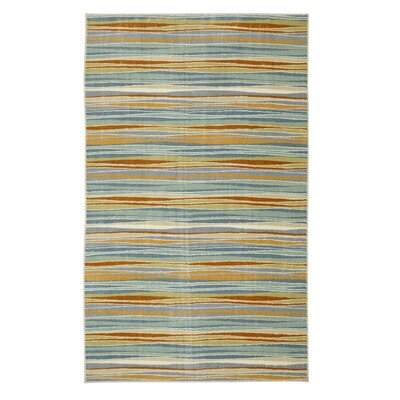 Centerville Machine Woven Blue/Cream Area Rug Rug Size: Rectangle 5 x 8