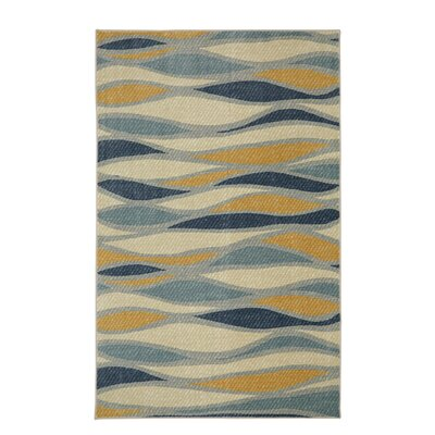 Centerville Blue/Beige Area Rug Rug Size: Rectangle 5 x 8