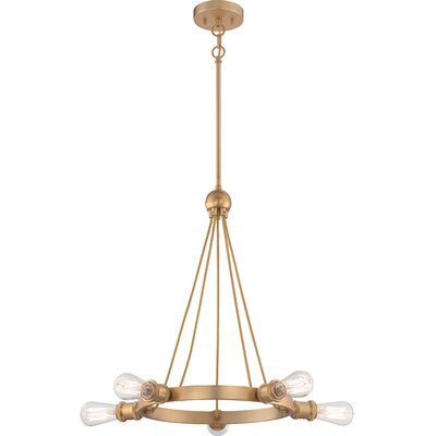 Perlita 5-Light Candle-Style Chandelier Finish: Natural Brass