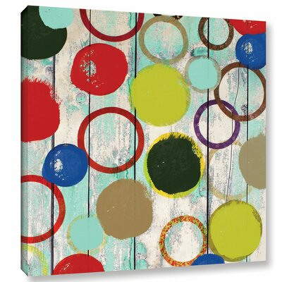 Langley Street Rainbow Circles II Wall Art on Wrapped Canvas