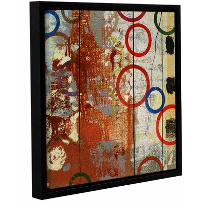 Langley Street Rainbow Circles V Framed Wall Art on Wrapped Canvas