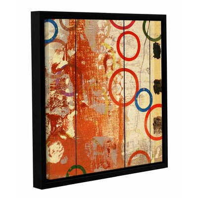 Rainbow Circles V 2 Framed Wall Art on Wrapped Canvas Size: 14