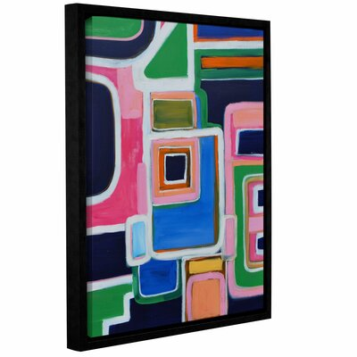 Langley Street Modern Angles Framed Painting Print on Wrapped Canvas