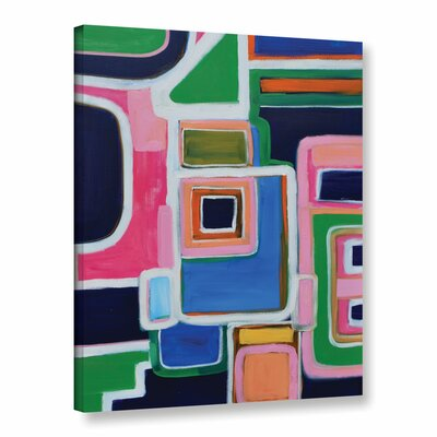 Langley Street Modern Angles Painting Print on Wrapped Canvas
