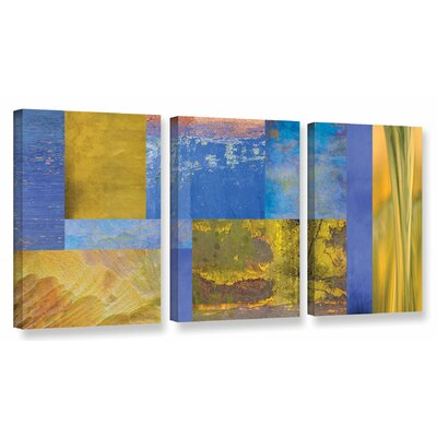 Collage 3 Piece Graphic Art on Wrapped Canvas Set Size: 18