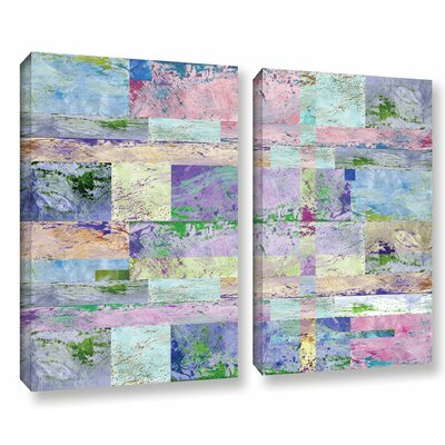 'Abstract I' 2 Piece Graphic Art on Wrapped Canvas Set Size: 18