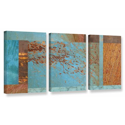'Collage' 3 Piece Graphic Art on Wrapped Canvas Set Size: 18