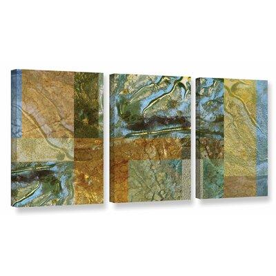 'Splendour' 3 Piece Graphic Art on Wrapped Canvas Set Size: 18