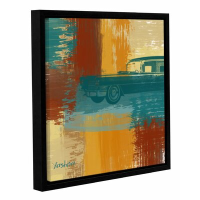 'Blue Retro Car' Framed Painting Print on Wrapped Canvas Size: 10