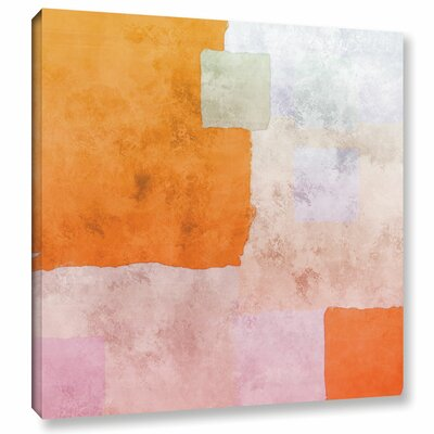 'Abstract Squares I' Painting Print on Wrapped Canvas Size: 10