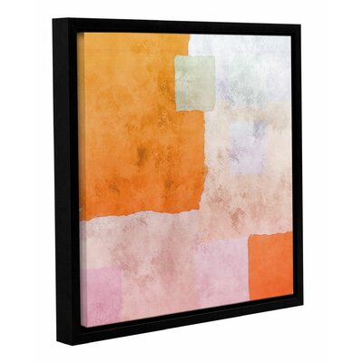 'Abstract Squares I' Framed Painting Print on Wrapped Canvas Size: 14