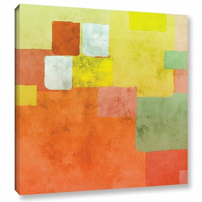 'Abstract Squares III' Painting Print on Wrapped Canvas Size: 10