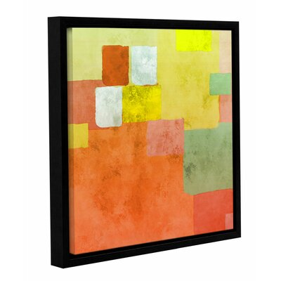 'Abstract Squares III' Framed Painting Print on Wrapped Canvas Size: 14