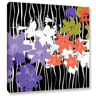 Blossoming Garden I Painting Print on Wrapped Canvas