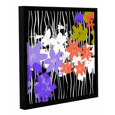 'Blossoming Garden I' Framed Painting Print on Wrapped Canvas Size: 14