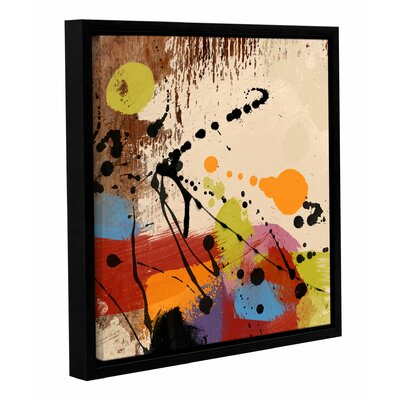'Cross Roads II' Framed Painting Print on Wrapped Canvas Size: 14