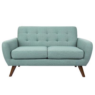Larne Mid-Century Modern Settee Upholstery: Teal