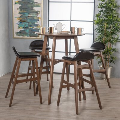 Adriana 5 Piece Pub Table Set