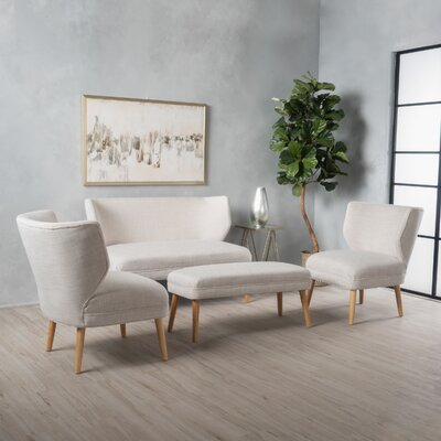 Raleigh 3 Piece Living Room Set Upholstery: Beige