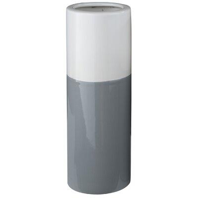 Cylinder Ceramic Vase Color: Gray
