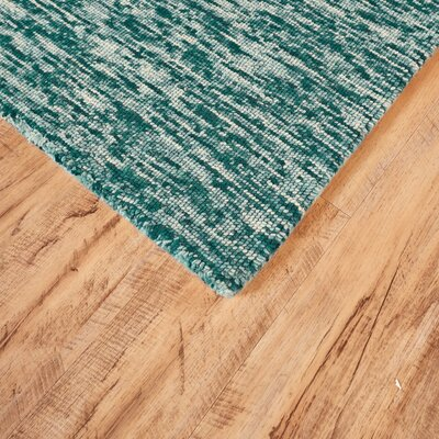 Estio Hand Tufted Teal Area Rug Rug Size: Runner 26 x 8