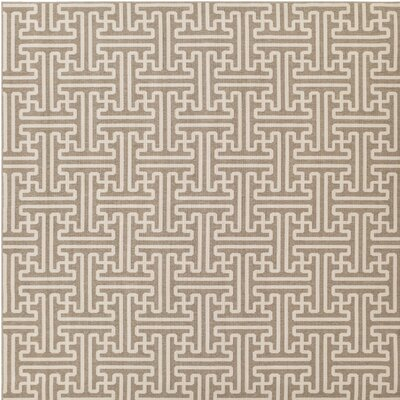 Delaney Camel / Cream Outdoor Area Rug Rug Size: Square 89