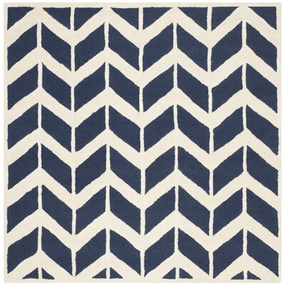 Seven Lakes Navy / Ivory Area Rug Rug Size: Square 6'