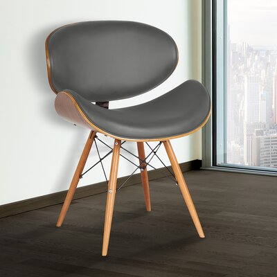 Zegna Side Chair Upholstery: Gray