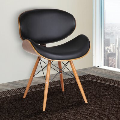 Zegna Side Chair Upholstery: Black