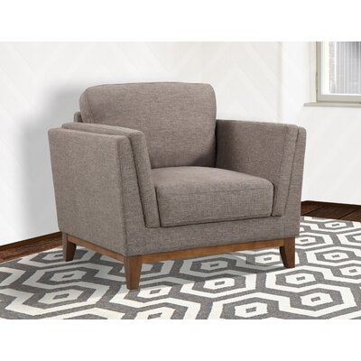 Artifore Modern Arm Chair Color: Brown