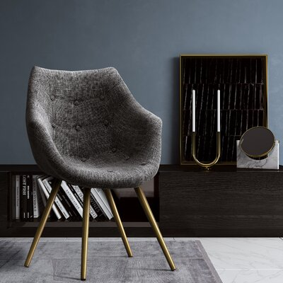 Holden Armchair Color: Gray