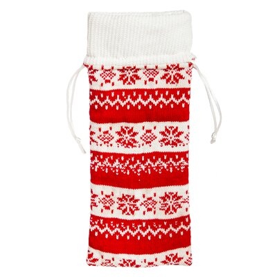 Langley Street Nordic Christmas Wine Bag