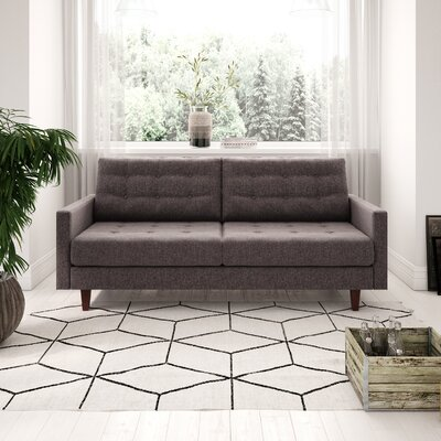 Canyon Sandy Tufted Sofa Upholstery: Charcoal