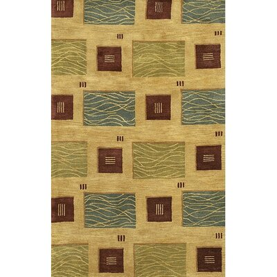 Allred Tan/Green Area Rug Rug Size: Rectangle 2 x 3