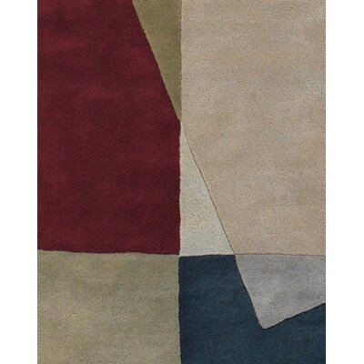 Allsop Tan/Red Area Rug Rug Size: Rectangle 79 x 106