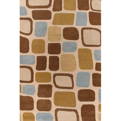 Alluvial Brown/Tan Area Rug Rug Size: Runner 26 x 76