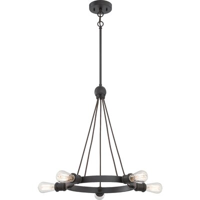 Perlita 5-Light Candle-Style Chandelier Finish: Aged Bronze