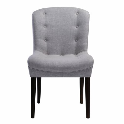 Carlane Side Chair Finish: Charcoal, Upholstery: Linen