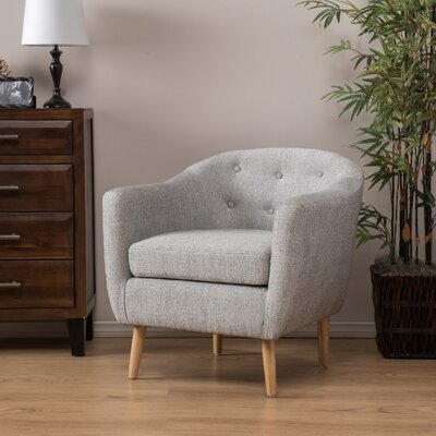 Mira Luna Barrel Chair Upholstery: Pepper