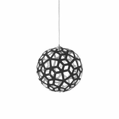 Terraza 1-Light Mini Pendant Shade Color: Black