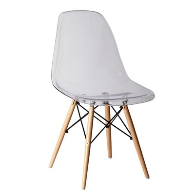 Halfmoon Side Chair (Set of 2) Finish: Clear