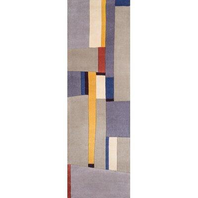 Sunny Springs Hand-Tufted Gray Area Rug Rug Size: Runner 26 x 12