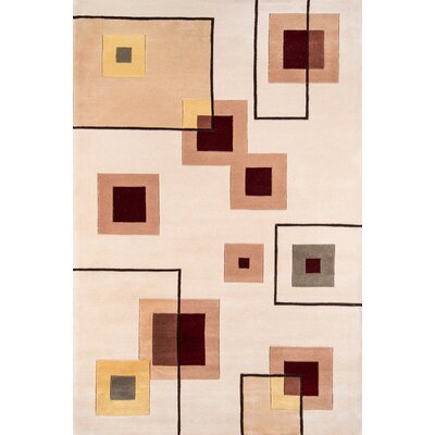Covington Hand-Tufted Ivory Area Rug Rug Size: Rectangle 8 x 11